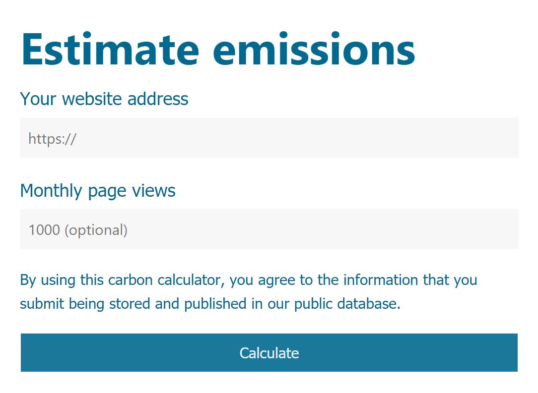 internet carbon footprint web carbon